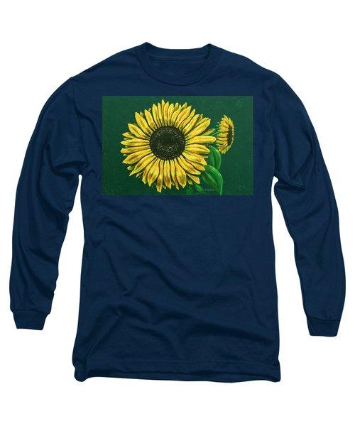 Sunflower Long Sleeve T-Shirt by Ron Haist