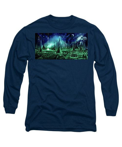 Long Sleeve T-Shirt featuring the painting The Enneanoveum by James Christopher Hill