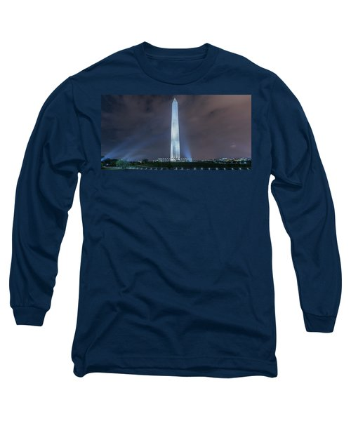 Long Sleeve T-Shirt featuring the photograph Washington Monument by Theodore Jones