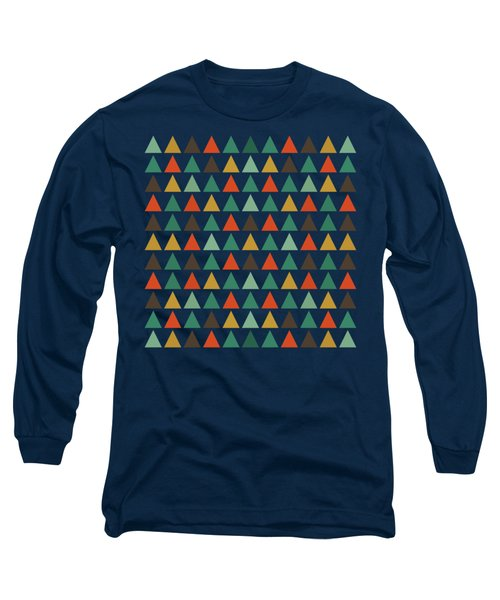 Colorful Geometric Background Long Sleeve T-Shirt