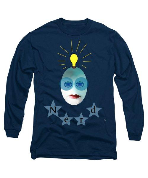 1282 - Nerd T Shirt Design Long Sleeve T-Shirt