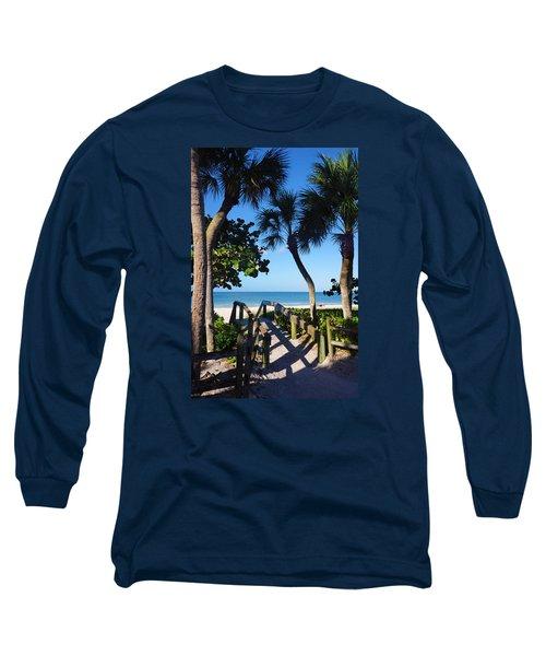 14th Ave S Beach Access Ramp - Naples Fl Long Sleeve T-Shirt