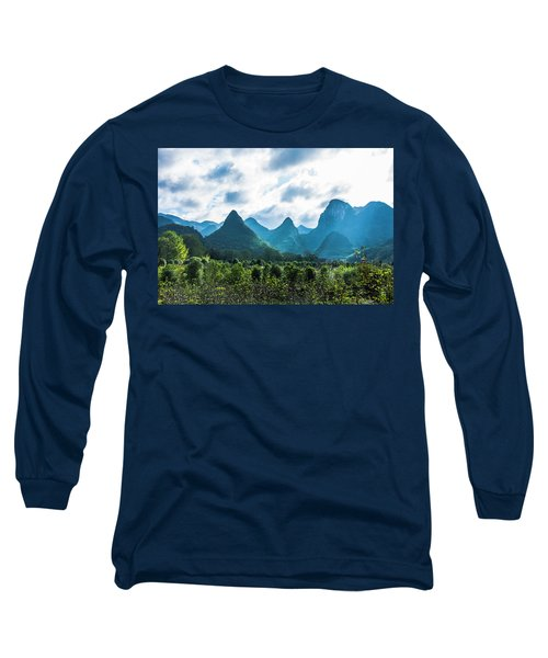 Countryside Scenery In Autumn Long Sleeve T-Shirt