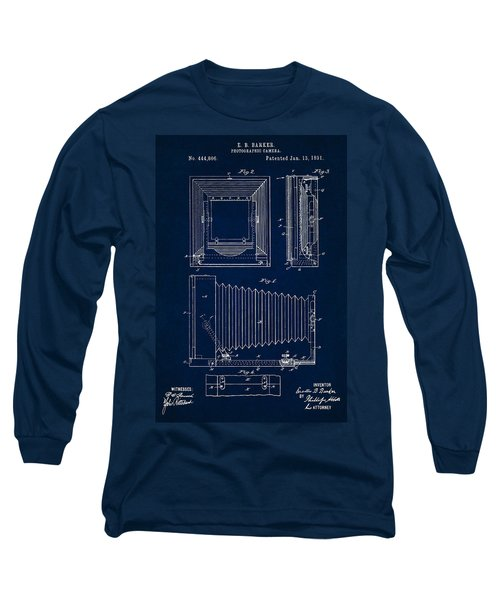 1891 Camera Us Patent Invention Drawing - Dark Blue Long Sleeve T-Shirt