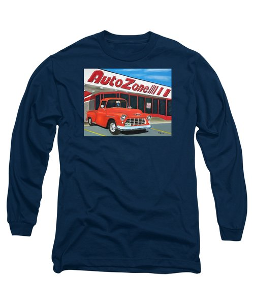 1955 Chevy - Autozone Long Sleeve T-Shirt
