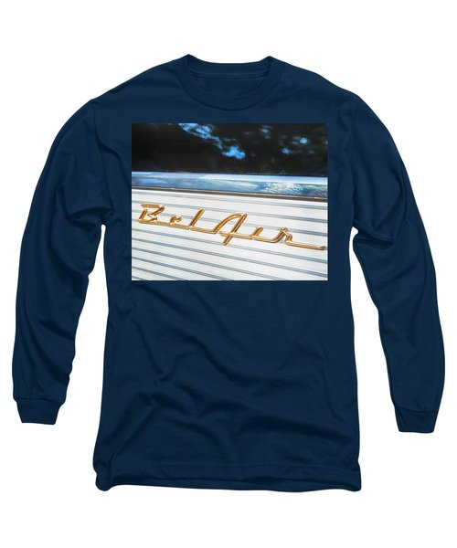 Long Sleeve T-Shirt featuring the photograph 1957 Chevrolet Bel Air by Theresa Tahara