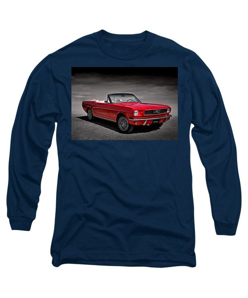 1966 Ford Mustang Convertible Long Sleeve T-Shirt by Douglas Pittman