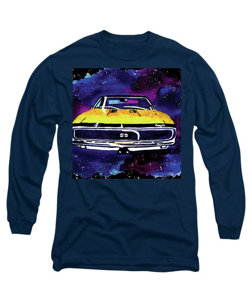 Long Sleeve T-Shirt featuring the painting 1967 Chevy Camaro Ss by Paula Ayers