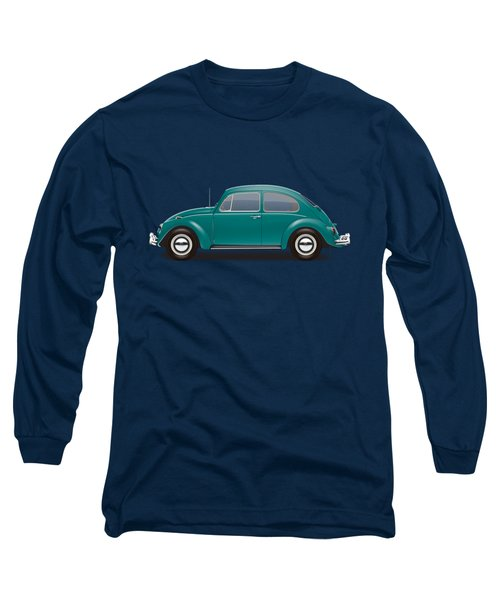 1967 Volkswagen Sedan - Java Green Long Sleeve T-Shirt by Ed Jackson