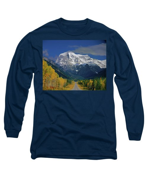 1m2441-h Mt. Robson And Yellowhead Highway H Long Sleeve T-Shirt