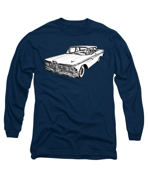 1959 Edsel Ford Ranger Illustration Long Sleeve T-Shirt