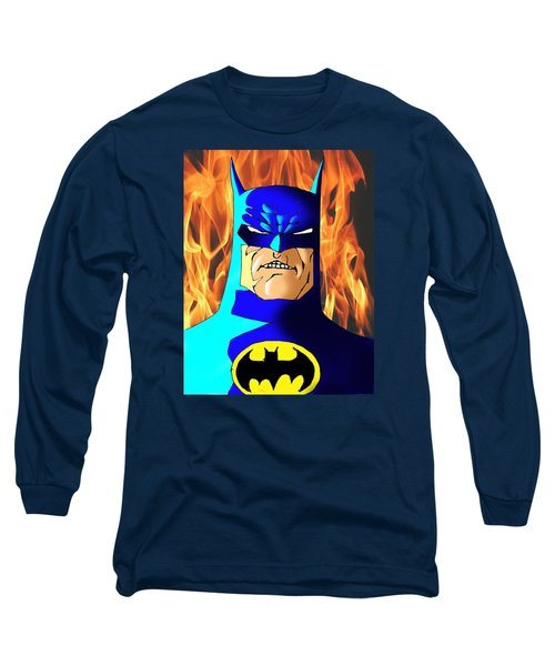 Old Batman Long Sleeve T-Shirt by Salman Ravish