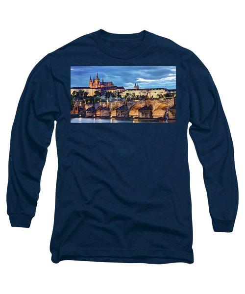 Charles Bridge And Prague Castle / Prague Long Sleeve T-Shirt