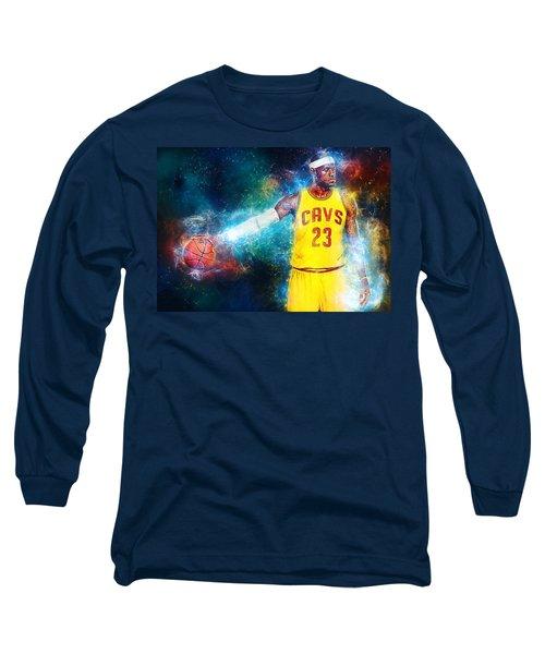 Lebron James Long Sleeve T-Shirt by Taylan Apukovska