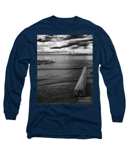 Mackinac Bridge - Infrared 01 Long Sleeve T-Shirt
