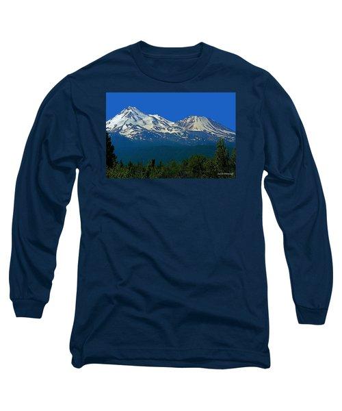Mt. Shasta Long Sleeve T-Shirt by Steve Warnstaff