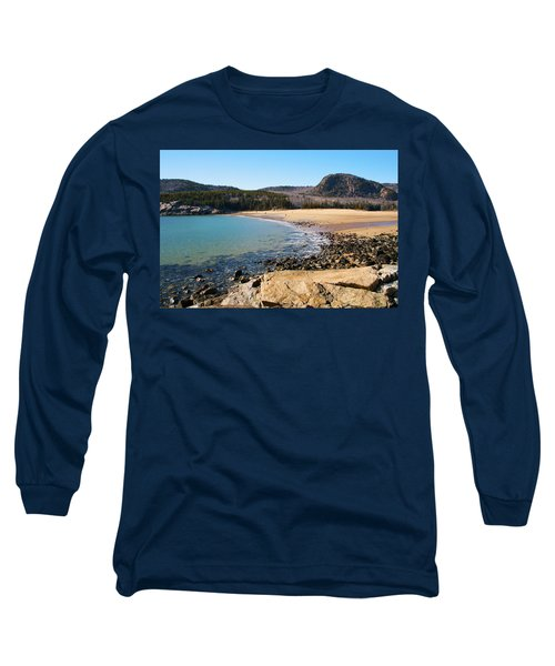 Sand Beach Acadia National Park Long Sleeve T-Shirt