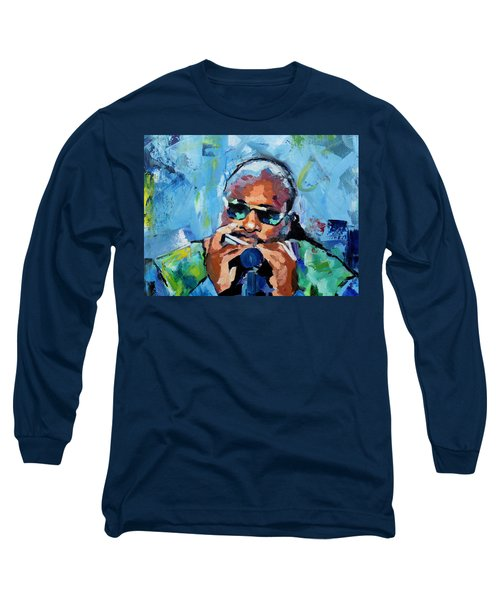 Stevie Wonder Long Sleeve T-Shirt by Richard Day