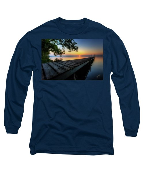 Sunrise Over Cayuga Lake Long Sleeve T-Shirt by Everet Regal