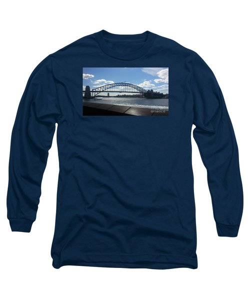 Sydney Harbor Bridge Long Sleeve T-Shirt by Bev Conover