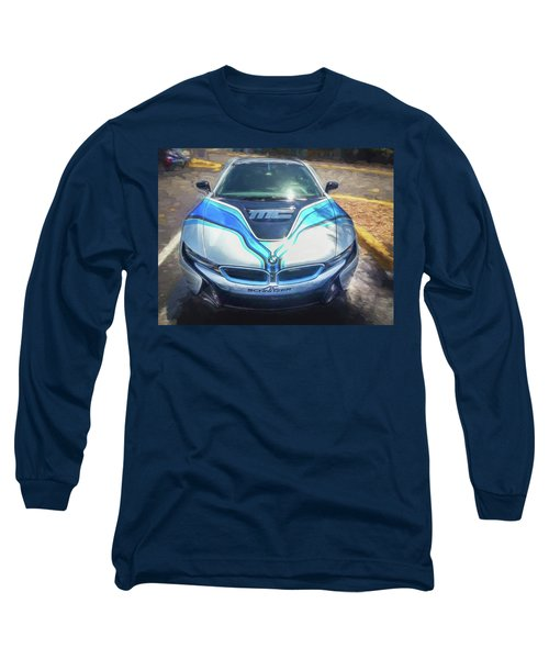 Long Sleeve T-Shirt featuring the photograph 2015 Bmw I8 Hybrid Sports Car by Rich Franco