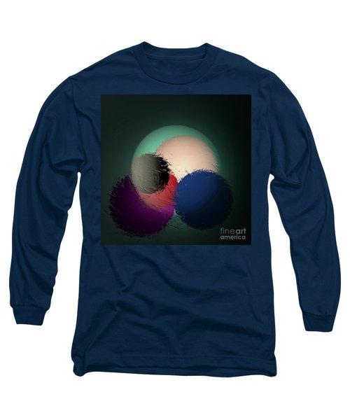Long Sleeve T-Shirt featuring the digital art 2986-2017 by John Krakora