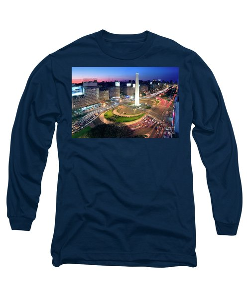 Long Sleeve T-Shirt featuring the photograph Buenos Aires Obelisk by Bernardo Galmarini