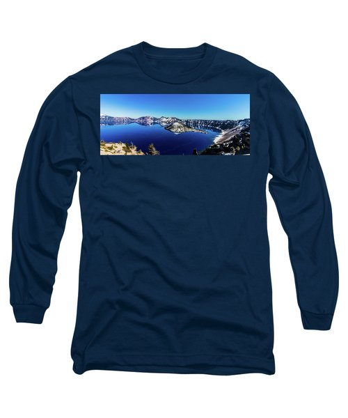 Long Sleeve T-Shirt featuring the photograph Crater Lake by Jonny D