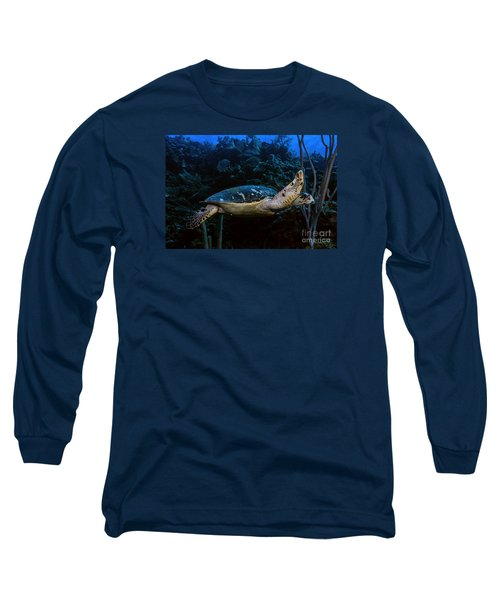 Hawksbill Turtle Long Sleeve T-Shirt by JT Lewis