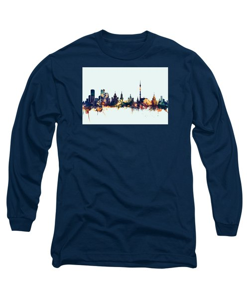 Moscow Russia Skyline Long Sleeve T-Shirt by Michael Tompsett