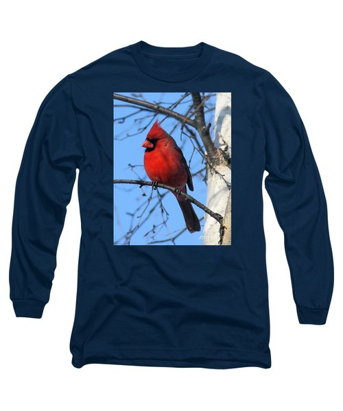 Long Sleeve T-Shirt featuring the photograph Northern Cardinal by Ricky L Jones