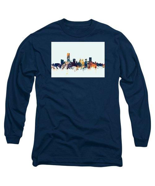 Oklahoma City Skyline Long Sleeve T-Shirt by Michael Tompsett