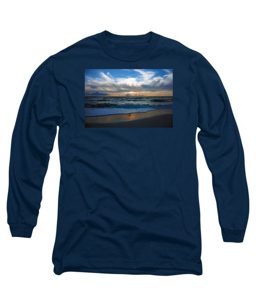 Sunset At Delnor-wiggins Pass State Park Long Sleeve T-Shirt by Robb Stan