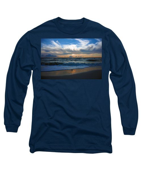 Sunset At Delnor-wiggins Pass State Park Long Sleeve T-Shirt
