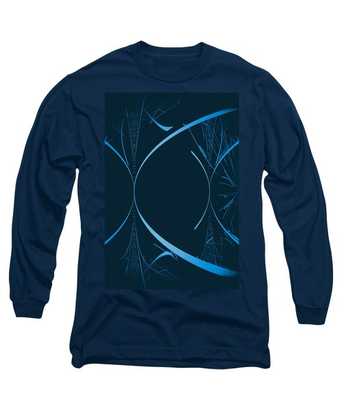 35 In Blue Long Sleeve T-Shirt