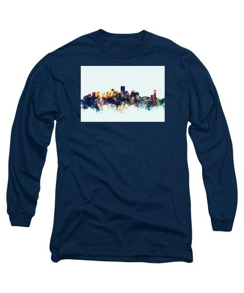 New Orleans Louisiana Skyline Long Sleeve T-Shirt by Michael Tompsett