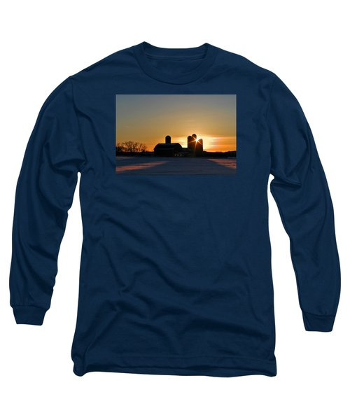 Long Sleeve T-Shirt featuring the photograph 4 Silos by Judy  Johnson