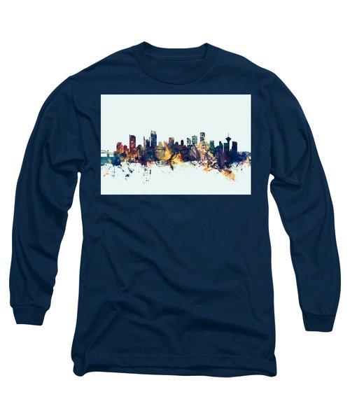 Vancouver Canada Skyline Long Sleeve T-Shirt