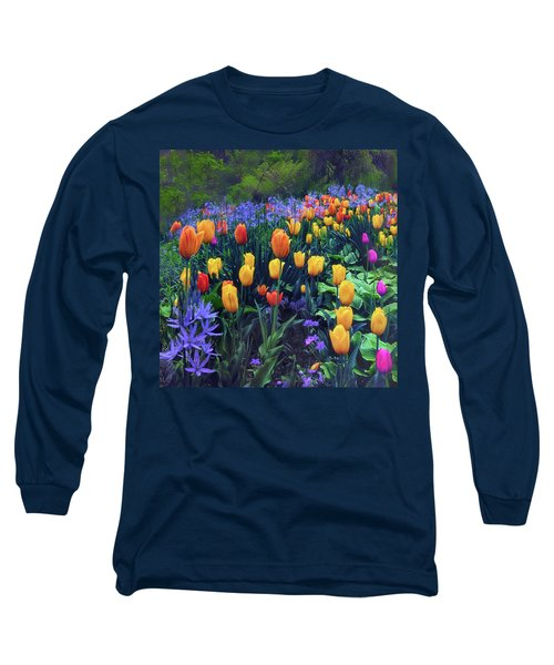 Procession Of Tulips Long Sleeve T-Shirt