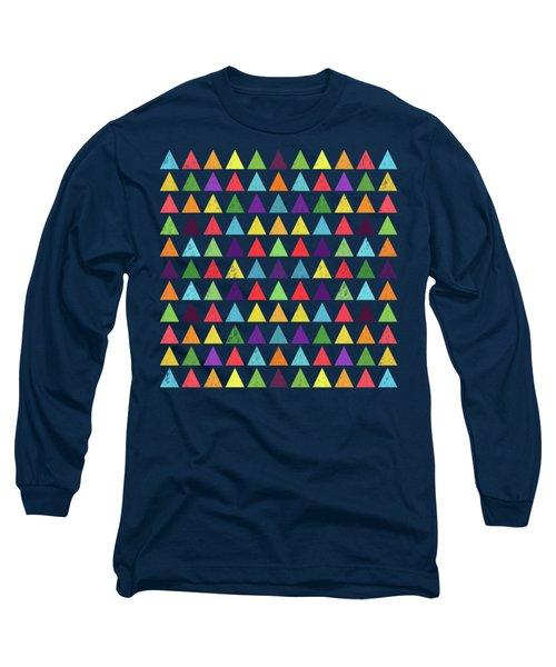 Geometric Pattern  Long Sleeve T-Shirt