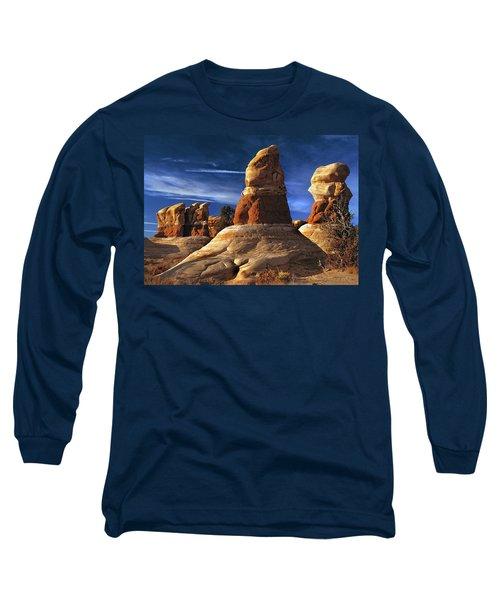 Sandstone Hoodoos In Utah Desert Long Sleeve T-Shirt
