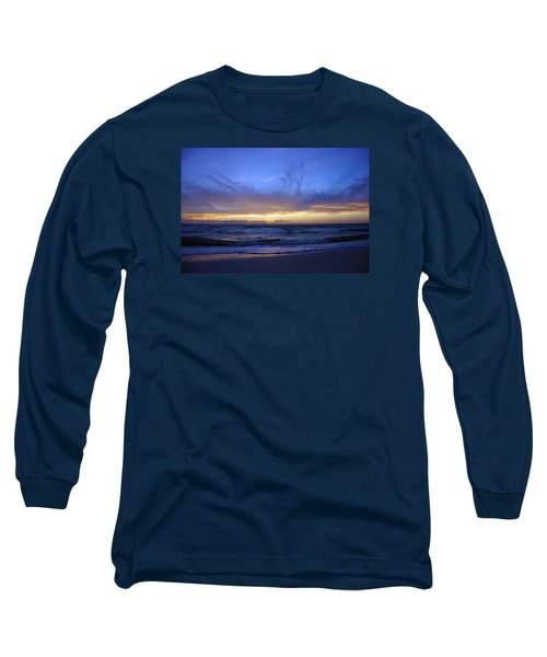 Sunset At Delnor Wiggins Pass State Park Long Sleeve T-Shirt by Robb Stan