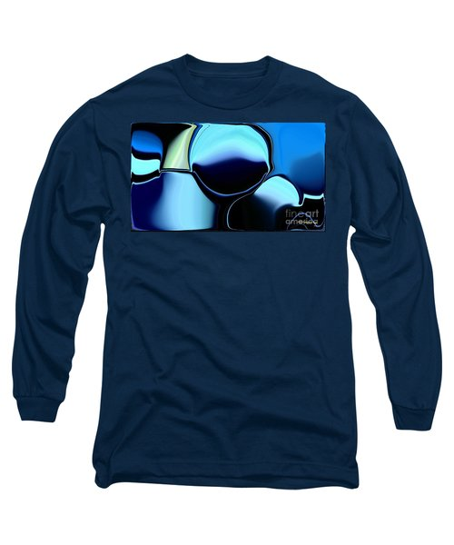 Long Sleeve T-Shirt featuring the digital art 57 Distortions by Greg Moores