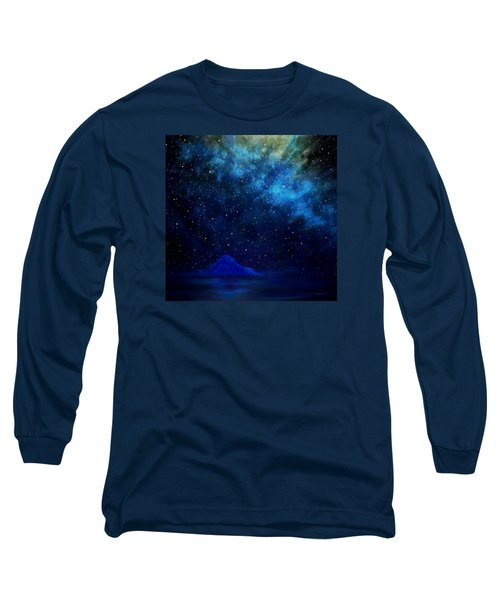 Long Sleeve T-Shirt featuring the painting Cosmic Light Series by Len Sodenkamp