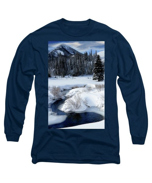 Wasatch Mountains In Winter Long Sleeve T-Shirt