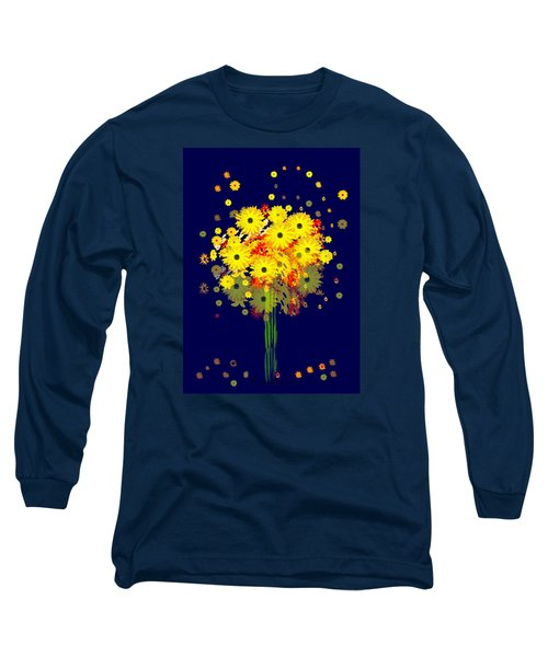 952 - Summer Flowers  Yellow ... Long Sleeve T-Shirt by Irmgard Schoendorf Welch