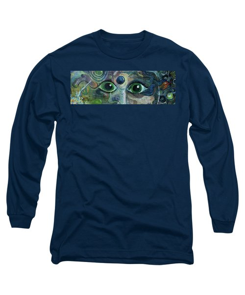 A Astronaut Dreams Of Her Infinite Cosmos Long Sleeve T-Shirt by Jame Hayes