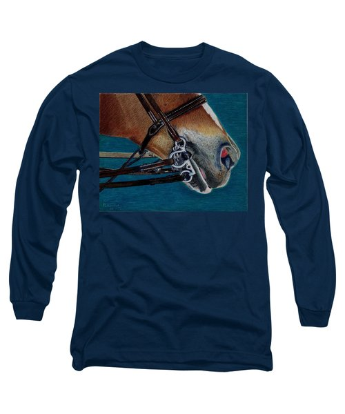 A Bit Of Control - Horse Bridle Painting Long Sleeve T-Shirt