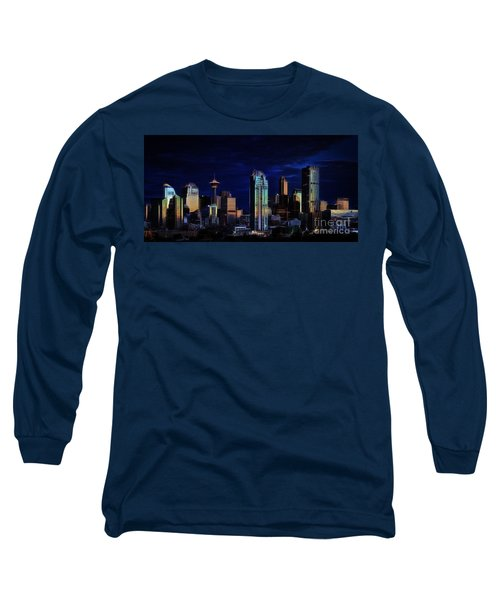 A Calgary Sunrise Long Sleeve T-Shirt