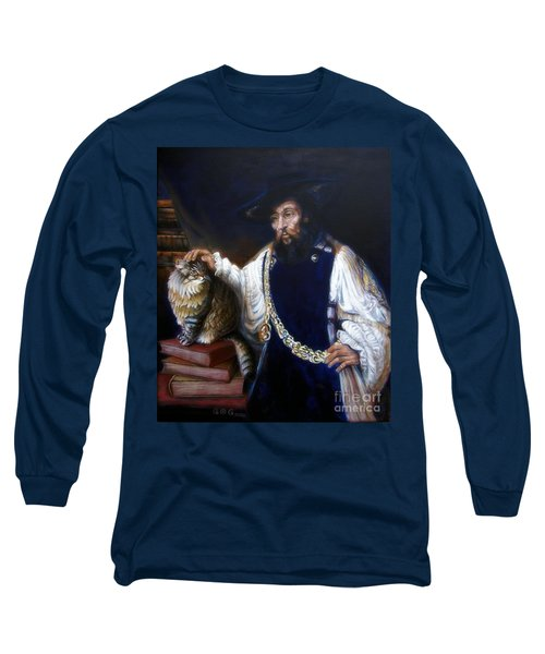 A Cat For Rembrandt_ Aristotle Caresses Calliope Long Sleeve T-Shirt